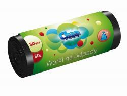 Cluo worki na śmieci 60l HDPE 50szt. czarne
