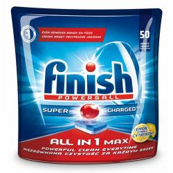 Finish All in 1 MAX tabletki do zmywarek 50 sztuk lemon