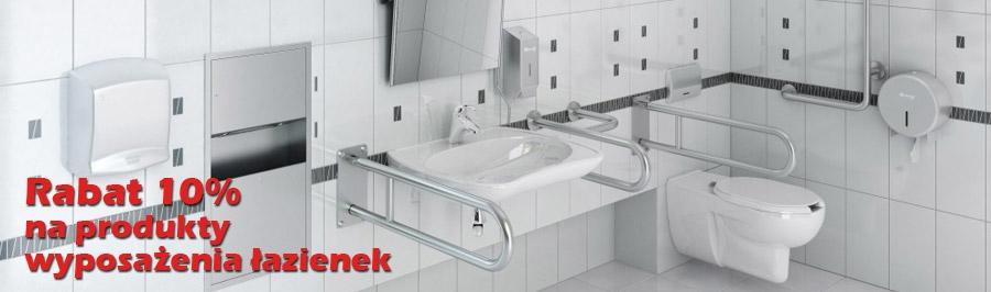 Rabat 10% na produkty wyposażenia łazienek