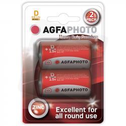Agfa baterie cynkowe D R20 grube 1,5V 2 sztuki