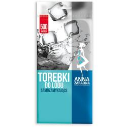 Anna Zaradna woreczki do lodu samozamykające 500 kostek