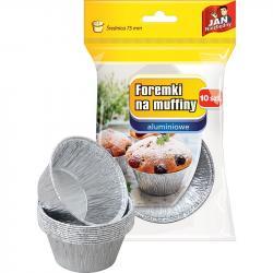 Jan Niezbędny foremki aluminiowe do babeczek 10 sztuk