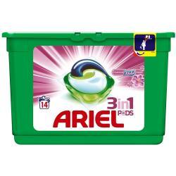 Ariel kapsułki do prania 3w1 14 sztuk Touch of Lenor do tkanin kolorowych