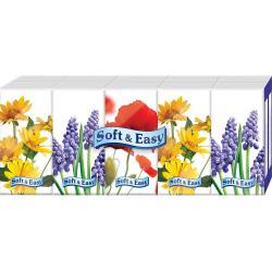 Soft & Easy chusteczki trzywarstwowe 10x9szt. Kwiaty