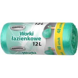 Grosik worki do łazienki 12L 48 szt. hdpe