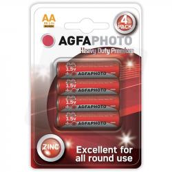 Agfa baterie paluszki AA R6 cynkowe 1,5V 4 sztuki