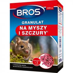 Bros trutka granulat na myszy i szczury 500g mumifikujący
