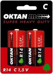 Oktan baterie cynkowe C R14 1,5V 2szt