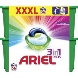 Ariel 3w1 kapsułki do prania kolorów 2x28 sztuk