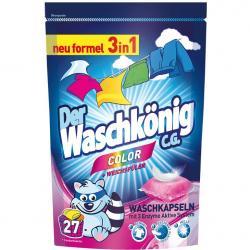 Der Waschkonig kapsułki piorące do koloru 27 sztuk