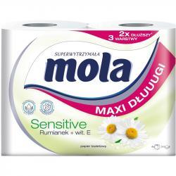 Mola Sensitive papier toaletowy 3 warstwowy 4 sztuki Rumianek