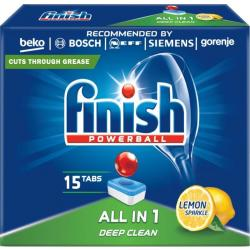 Finish All In 1 tabletki do zmywarek 15szt. Lemon