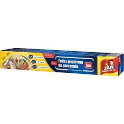 Jan Niezbędny folia aluminiowa 5m z papierem do pieczenia