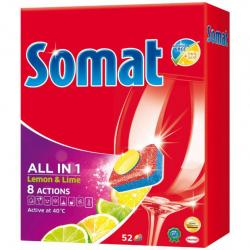 Somat All In 1 Lemon tabletki do zmywarek 52 sztuki