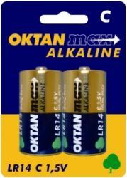 Oktan baterie alkaliczne C R14 1,5V 2szt.