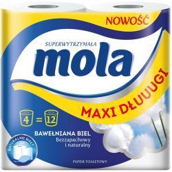 Mola Bawełniana Biel papier toaletowy 4 sztuki