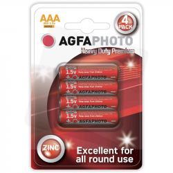Agfa baterie cienkie paluszki AAA R03 cynkowe 1,5V 4 szt.