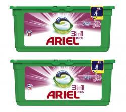 Ariel kapsułki do prania białego 28x2szt. zapach Lenora 3w1