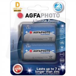 AgfaPhoto baterie alkaliczne D LR20 1,5V 2 sztuki