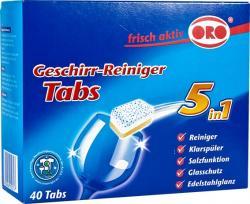 ORO tabletki do zmywarek 5w1 40 sztuk