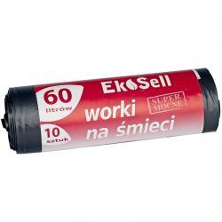 Ekosell worki LDPE 60l 10 szt. czarne