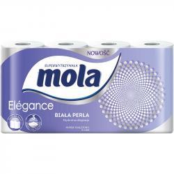 Mola elegance papier toaletowy trzywarstwowy, biała perła 8 rolek