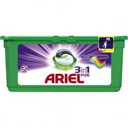 Ariel kapsułki do prania 3w1 28 sztuk do tkanin kolorowych