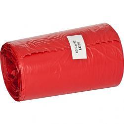 Ekosell worki LDPE 60l 50 szt. czerwone