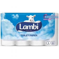 Lambi papier toaletowy trzywarstwowy 8 rolek