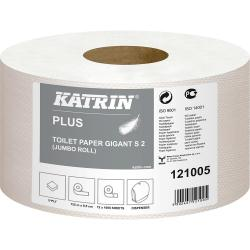 Katrin Plus 121005 papier Jumbo celuloza 2-warstwowy, 125 metrów, 12 sztuk