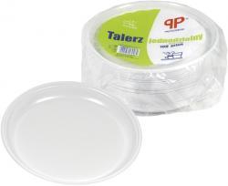 PP talerze plastikowe 1-dzielne 22cm 100szt