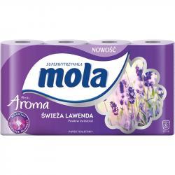Mola Aroma papier toaletowy dwuwarstwowy Świeża Lawenda 8 rolek