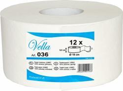 Vella papier Jumbo biały celuloza 2-warstwowy 145 metrów 12 sztuk
