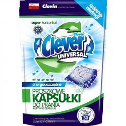 Clever kapsułki proszkowe do prania tkanin 30szt. Universal