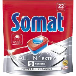 Somat All In 1 tabletki do zmywarek Extra 22 sztuki
