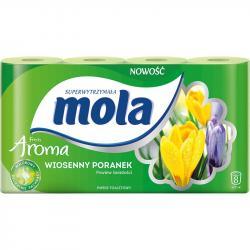 Mola Aroma papier toaletowy dwuwarstwowy Wiosenny Poranek 8 rolek