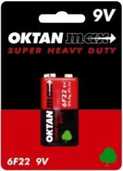 Oktan baterie cynkowe 6F22 kostka 9V 1szt.