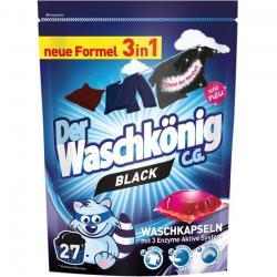 Der Waschkonig kapsułki piorące do czarnego 27 sztuk