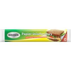 Grosik biały papier śniadaniowy 25 sztuk