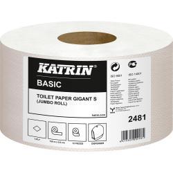 Katrin Basic 2481 papier Jumbo szary 1-warstwowy, 150 metrów, 12 sztuk