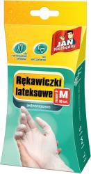 Jan Niezbędny jednorazowe rękawice lateks M 10 sztuk