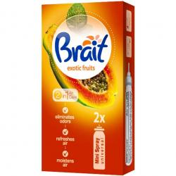 Brait Mini Spray wkład do odświeżacza 2x10ml Exotic Fruits