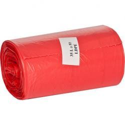 Ekosell worki LDPE 35l 50 szt. czerwone