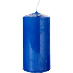 Bispol świeca bezzapachowa walec 50/100 niebieska 1szt
