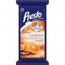 Presto chusteczki uniwersalne 72 sztuki Cynamon & Pomarańcza