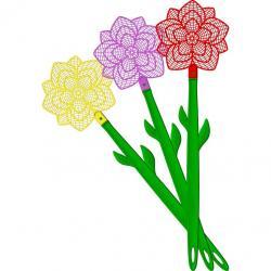 Bros elastyczna packa na muchy kwiatek