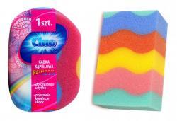 Cluo gąbka do kąpieli kolorowa Rainbow
