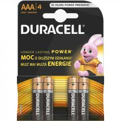 Duracell baterie alkaliczne AAA 4 sztuki