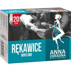 Anna Zaradna rękawice winylowe 20 sztuk