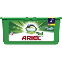 Ariel kapsułki do prania 3w1 28 sztuki Mountain Spring do tkanin białych